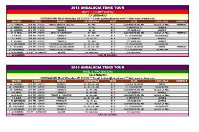 2018 ANDALUCIA TENIS TOUR – CALENDARIO