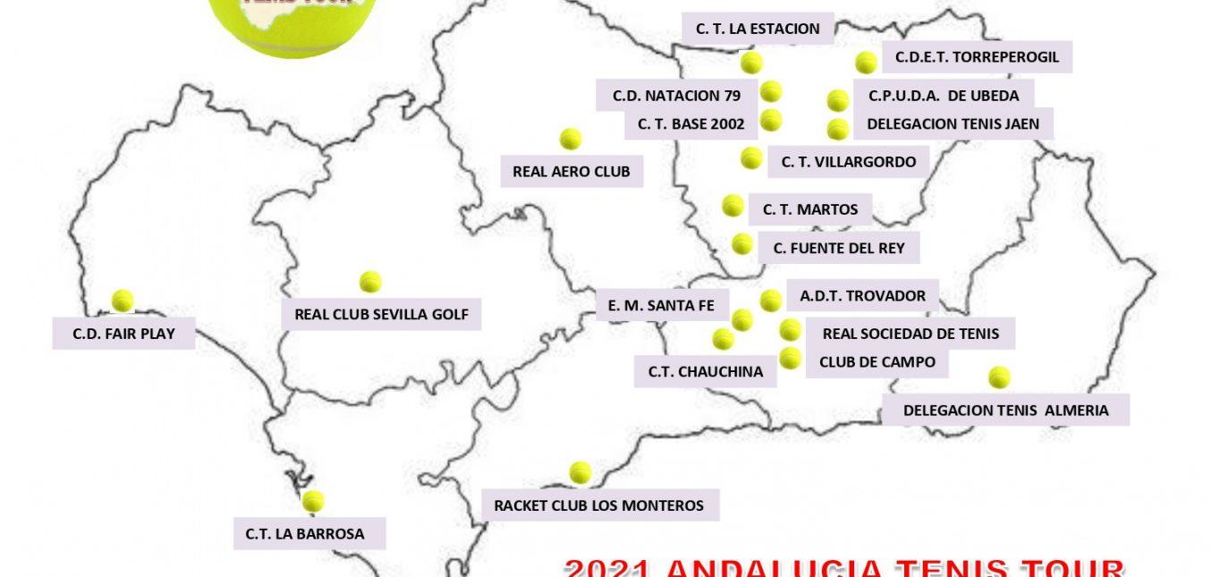 2021 ANDALUCIA TENIS TOUR. SEDES