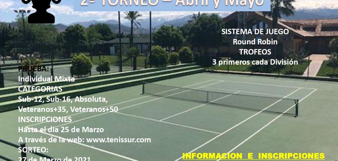 TENISSUR CUP 2021 - TORN. II...(En fase de inscripción)